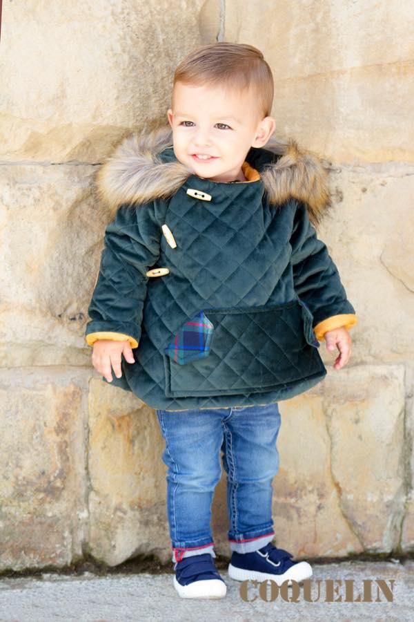 abrigo niño verde de coquelin