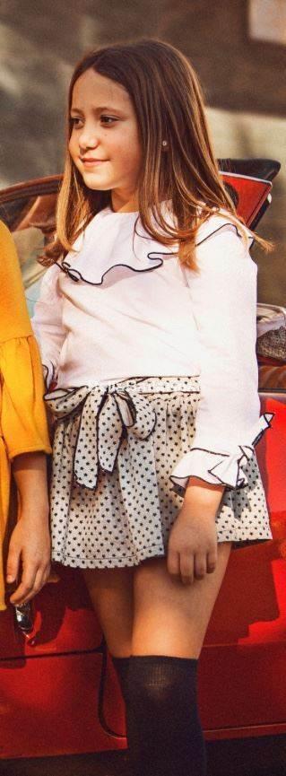 conjunto lux falda pantlon y blusa de mami maria