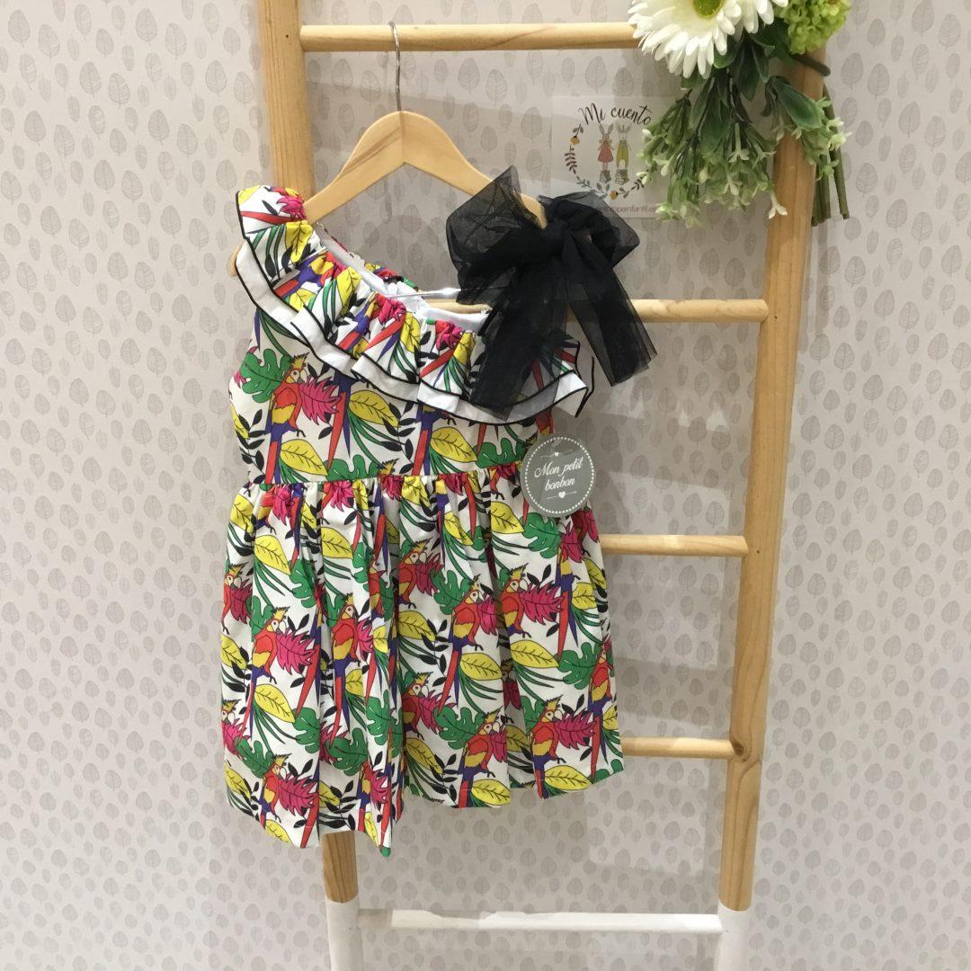 vestido loros de mon petit bonbon