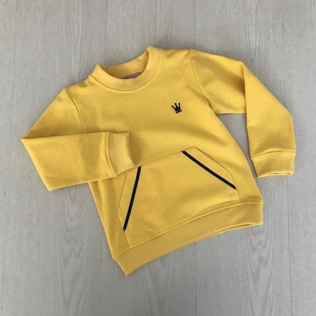 sudadera niño amarilla de eva castro