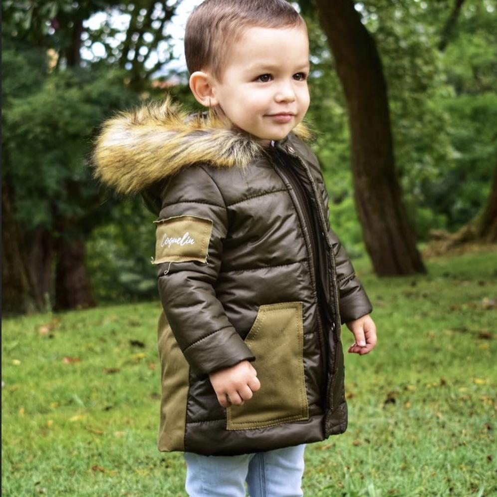 abrigo verde caqui de coquelin